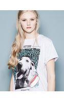 Pull&Bear Print Tshirt - Lyst