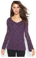 Inc International Concepts Long-sleeve Pointelle Sweater - Lyst