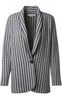 Stella McCartney Houndstooth Virgin Wool Jacket - Lyst