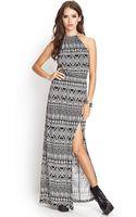 Forever 21 Tribal Print Maxi Dress - Lyst