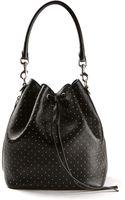 Saint Laurent Black Emmanuelle Medium Bucket Bag Embellished with Silver-toned Metal Studs - Lyst