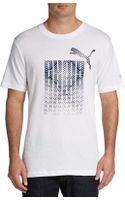 Puma Logo Graphic Cottonblend Tee - Lyst