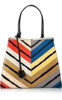 Fendi 3jours Medium Printed Watersnake Tote - Lyst
