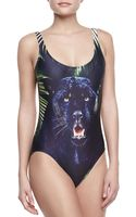 We Are Handsome Panther Scoopneck Onepiece Swimsuit - Lyst