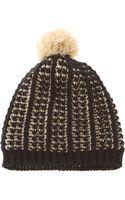 Nine West Popcorn Knit Beanie Hat - Lyst