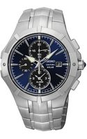 Seiko Mens Chronograph Coutura Solar Alarm Stainless Steel Bracelet Watch 41mm Ssc197 - Lyst