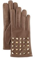Valentino Rockstudsleeve Leather Gloves - Lyst