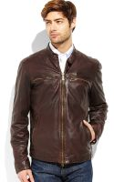 Vince Camuto Four-pocket Leather Motorcycle Jacket - Lyst