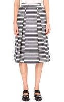 Whistles Ivy Striped Midi Skirt - Lyst