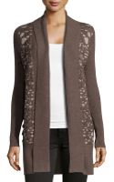 Alberto Makali Patterninset Knit Open Cardigan - Lyst
