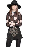 Saint Laurent Polka Dot Printed Silk Georgette Shirt - Lyst