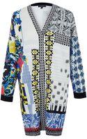 Etro Multicolour Print Knit Cardigan - Lyst