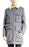 Alexander Wang Wool Twill Coat - Lyst