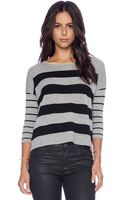 Autumn Cashmere Sailor Stripe Boatneck Sweater - Lyst