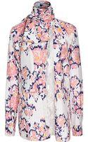Thakoon Printed Tieneck Silk Blouse - Lyst