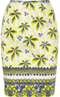 Prabal Gurung Printed Cotton Blend Pencil Skirt - Lyst