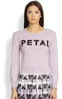 Christopher Kane Cropped Cashmere Petal Sweater - Lyst
