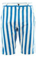 Levi's Striped Denim Shorts - Lyst