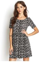 Forever 21 Abstract Zig Zag Dress - Lyst