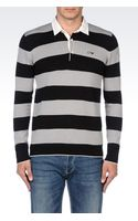 Armani Jeans Long Sleeved Polo Shirt - Lyst