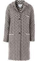 Thom Browne Knitted Herringbone Coat - Lyst