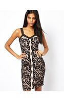 Hybrid Cami Pencil Dress with Mirror Lace Detail - Lyst