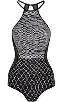 Zimmermann Meshpaneled Printed Swimsuit - Lyst