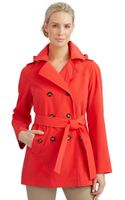Calvin Klein Double Breasted Trench Coat - Lyst