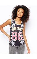Asos Tank Top with Floral Bronx Print - Lyst