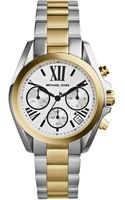 Michael Kors Womens Chronograph Mini Bradshaw Twotone Stainless Steel Bracelet Watch 36mm - Lyst