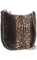 Valentino Rockstud Hobo Calf Hair Shoulder Bag - Lyst