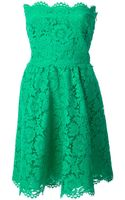 Valentino Strapless Floral Lace Dress - Lyst