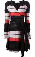 Tanya Taylor Striped Wrap Dress - Lyst
