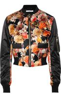 Givenchy Silk Bomber Jacket - Lyst