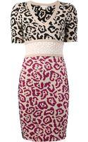 Antonio Berardi Leopard Jacquard Dress - Lyst
