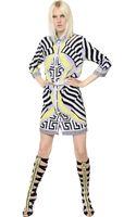 Versace Printed Silk Crepe De Chine Shirt Dress - Lyst