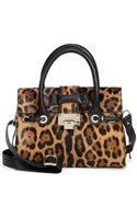 Jimmy Choo Rosalie Leopardprint Calf Hair Satchel - Lyst