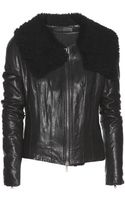 Haider Ackermann Kills Shearlingtrimmed Leather Jacket - Lyst