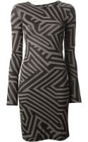 Gareth Pugh Printed Dress - Lyst