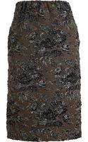 No 21 Metallic Floral Skirt - Lyst