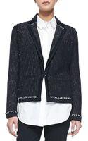 Vince Fringe-trim Tweed Jacket - Lyst