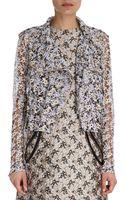 Christopher Kane Floral Lace Biker Jacket - Lyst