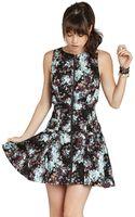 BCBGeneration Highneck Sleeveless Dress - Lyst