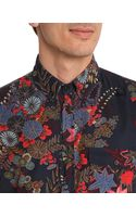 Marc By Marc Jacobs Wichita Floral Blue Corduroy Printed Shirt - Lyst