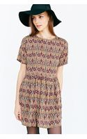 Glamorous Short-sleeve Printed Frock Dress - Lyst