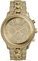 Michael Kors Goldtone Lindley Chronograph Glitz Watch 48mm - Lyst