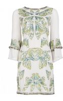 Matthew Williamson Wing Georgette Embroidered Ruffle Sleeve Dress - Lyst