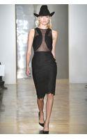 Cushnie Et Ochs Lace with Chiffon and Georgette Dress Black - Lyst