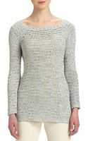 Donna Karan New York Wideneck Silk Sweater - Lyst