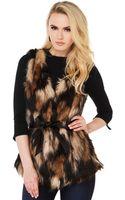 Akira Black Label Cozy Up Fur Vest  - Lyst